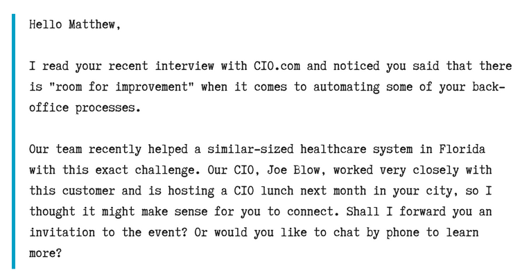 Hello Matthew,I read your recent interview with CIO.com and noticed you said that there is _room for improvement_ when it comes to automating some of your back-office processes..Our team recently helped a similar-size.png