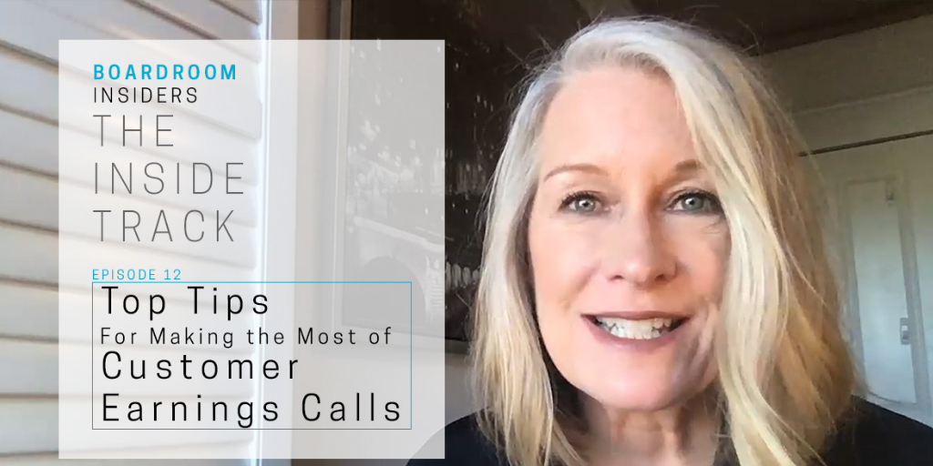 Earnings calls cover